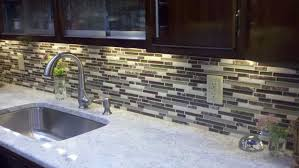 Tile Under Kitchen Cabinets Unusual Kitchen Linear Lights Features Led Lights Under