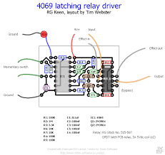 using a latching relay driver for true bypass