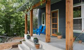 how to build front porch columns using wooden material