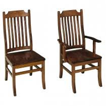Mission Style Dining Chairs Amish Dining Room Furniture Mission Style