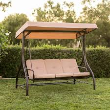 Outdoor Swing With Canopy Converting Outdoor Swing Canopy Hammock Seats 3 Patio Deck