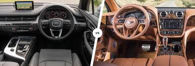 old bentley interior bentley bentayga vs audi q7 carwow