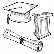 graduation items graduation items sketch stock vector lhfgraphics 14136040