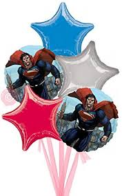 inflated helium balloons delivered superman of steel inflated helium balloon delivered in a box