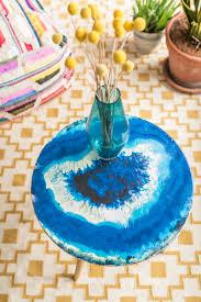 Tisch Im Wohnzimmer Diy Tisch Im Achat Look Leelah Loves