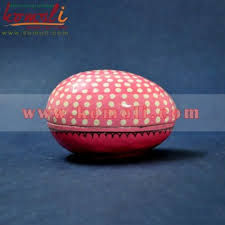 paper mache egg box of simplicity pink polka dots pink handmade painted paper