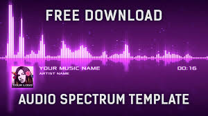 audio spectrum visualizer after effects template free download