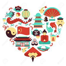 travel symbols images China travel asian traditional culture symbols in heart shape jpg