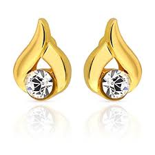 daily wear diamond earrings buy mahi daily wear fashion stud earring of brass alloy with