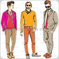 men fashion vector stock