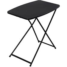 small fold out table mainstays 26 personal folding tables set of 4 black walmart com