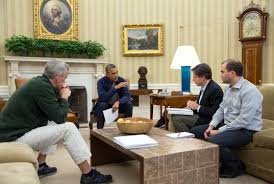 images of obama advisers discussing historic deal with iran in