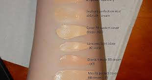 Makeup Forever Airbrush Fair Foundation Concealer Comparison Swatches Makeupaddiction