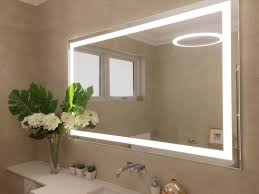 clearlight designs led lighted mirror and frosted etched glass