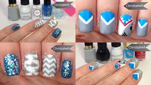 shark week nail art tutorial with chevrons youtube
