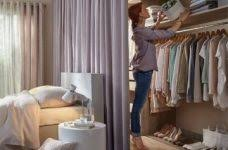 exquisite bedroom closet curtains bedroom ideas