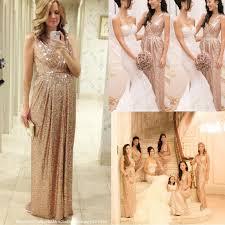 Wedding Dresses Discount Aliexpress Com Buy 2017 Sequins Bridesmaid Dresses Long Rose