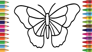drawing butterfly coloring pages for kids how to draw butterfly