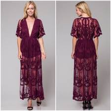 honey clothing honey punch restocked honey punch lace maxi dress in wine from