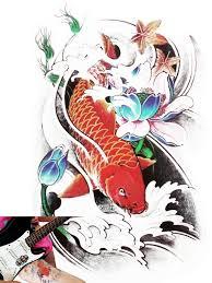 koi carp tattoo images novu ink tattoo artist temporary tattoo hand drawn waterproof