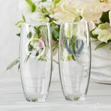 stemless champagne flutes botanical garden wedding favors kate aspen blog
