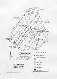 Tennessee Map Of Counties by Mcminn County Tennessee Heritage And Genealogy Page