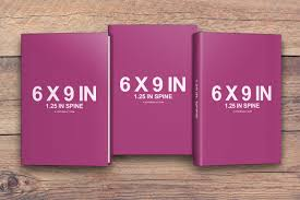 6 x 9 book series with dust jacket covers psd mockup covervault