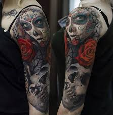 day of the dead skull arm best design ideas
