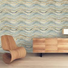 tempaper travertine aquamarine and gold self adhesive removable