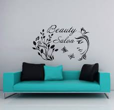 compare prices on hair walls online shopping buy low price hair hair nail beauty salon wall vinyl decal girl flower butterfly beauty salon lettering wall sticker hair