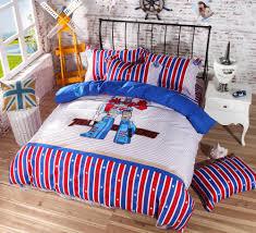 Transformer Bed Set 100 Cotton Optimus Prime Bumblebee Transformers Bedding