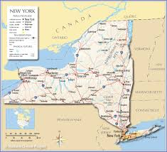 Map Of United States With Interstates by Reference Map Of The State Of New York Usa Nations Online Project