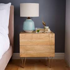 Bedside Tables Roar Rabbit Brass Geo Inlay Bedside Table West Elm Au