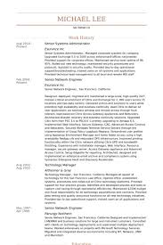 Network Admin Resume Sample by Senior Systems Administrator Resume Samples Visualcv Resume