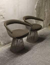 model 1725a armchairs by warren platner for knoll international