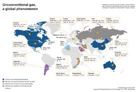 World Map Belgium by Unconventional Gas A Global Phenomenon