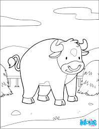 bull inside his pasture coloring pages hellokids com