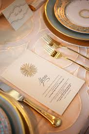 Gold Table Setting by Theme Inspiration Glam Goddess United With Love