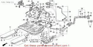 honda accord 1995 s 2dr lx abs ka kl fuel tank schematic