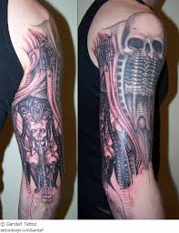 a tattoo design picture by gandalf tattoo dark evil giger sleeve