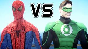 spiderman vs green lantern epic battle youtube