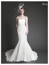 fishtail wedding dress intuzuri lace fishtail dress with rouched tulle bodice ivory