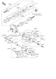 1999 kawasaki prairie 300 4x4 kvf300a drive shaft front parts