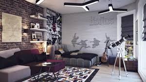 brick wallpaper bedroom ideas new on inspiring room design