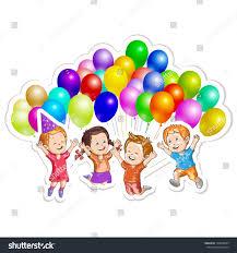 kids balloons stock vector 194008289 shutterstock