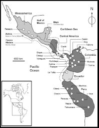 Black And White Map Of Central America by Technological And Material Features Of The Gold Work Of Mesoamerica