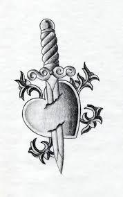 heart n dagger tattoo drawing tattoos book 65 000 tattoos designs