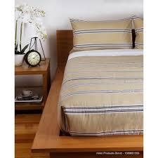 King Single Bed Linen - stripe latte king single bed duvet cover set