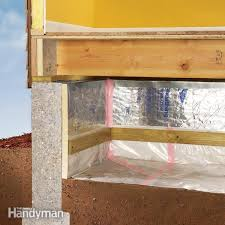 How To Build A Wall In A Basement by How To Install A Vapor Barrier In The Crawlspace Family Handyman
