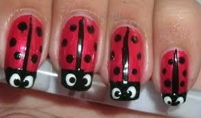wow nails ladybug nail art tutorial
